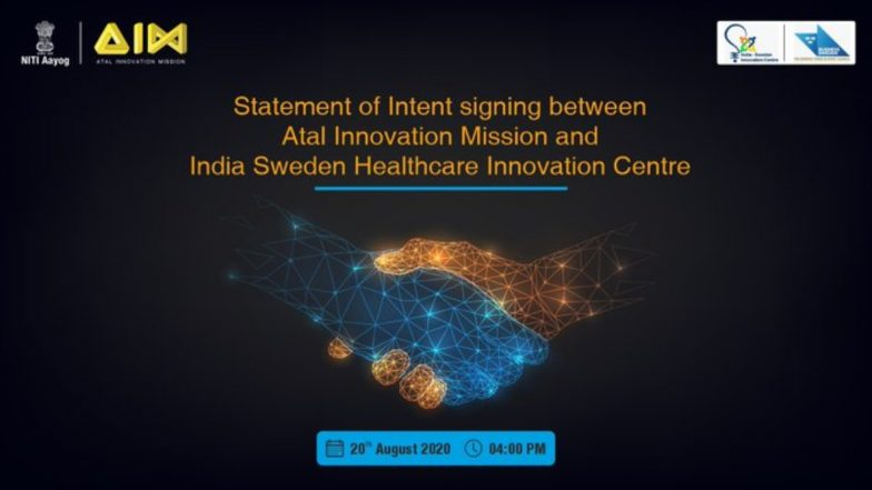 Atal Innovation Mission Ties Up With India-Sweden Healthcare Innovation Centre to Boost Vibrant Start-Up Ecosystem