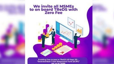 TReDs Platform Joining Fee Waived For MSMEs till September 20