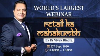 Bada Business 'Retail Ka Mahakumbh' 2020 Live Streaming: Watch Dr Vivek Bindra Share His Business Expansion Strategies During World's Largest Webinar on Sept 27