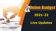 Union Budget 2021 Live Updates: No Income Tax Slab Change in Budget 2021.