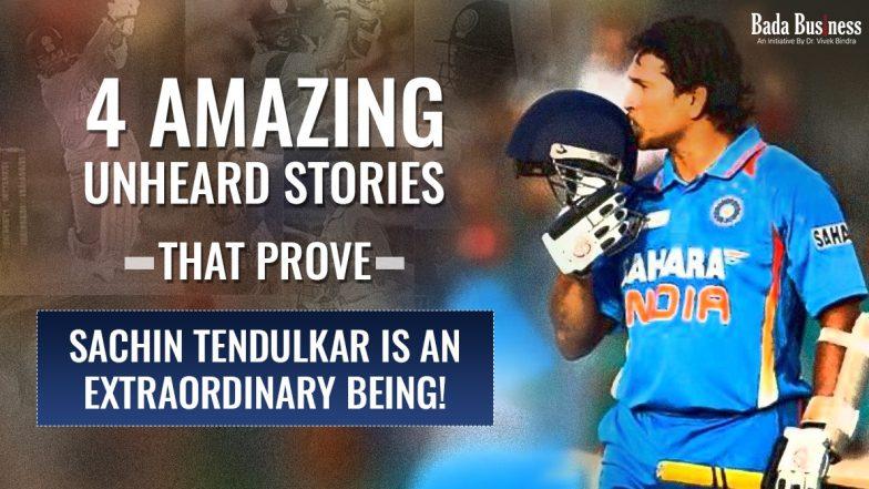 4 Amazing Unheard Stories That Prove Sachin Tendulkar Is An Extraordinary Being!