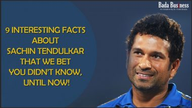 9 Interesting Facts About Sachin You Didn't Know!