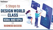5 Steps To Design World Class KRAs And KPIs For Business Success